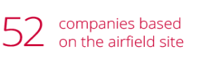 52 companies based on the airfield site